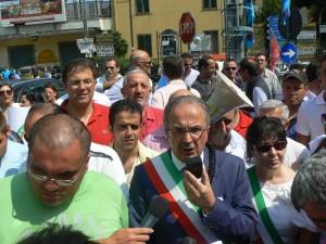 Cava de' Tirreni:  protesta dell'Agro Nocerino-Sarnese contro pedaggio autostradale Sa-Na