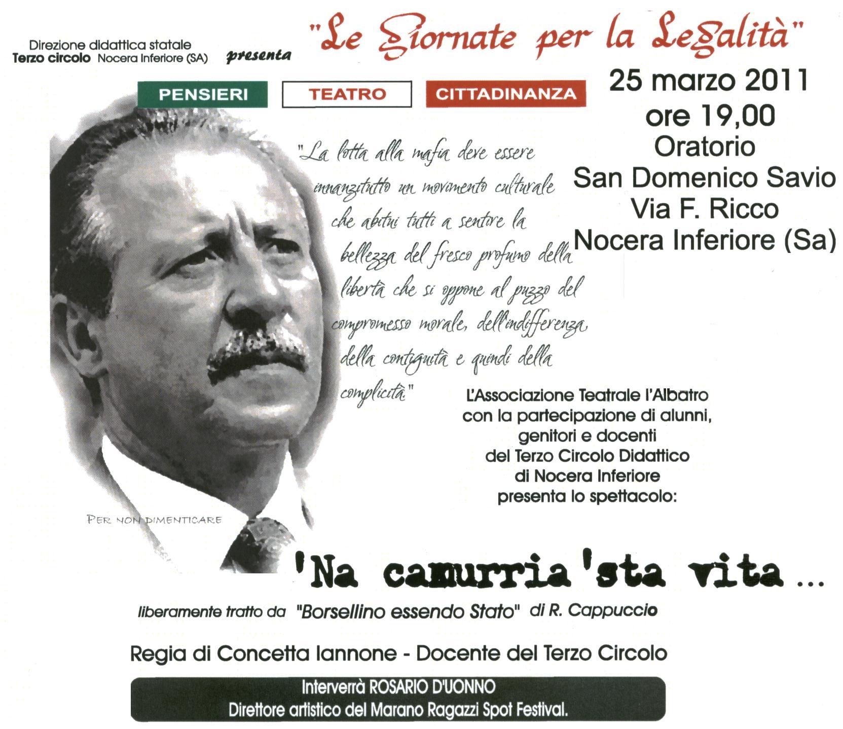 Nocera Inferiore: Giornate per la legalità  Dentro Salerno  L ...
