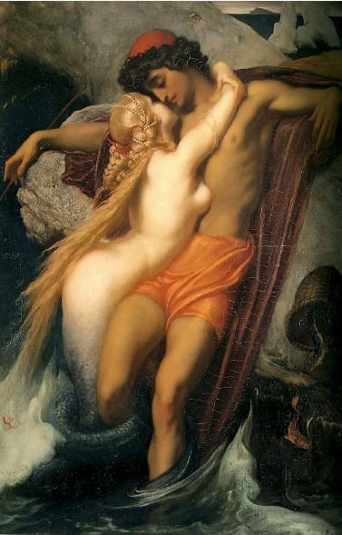 Recomendaciones de Pintura/Pintores Frederic_leighton_-_il_pescatore_e_la_sirena