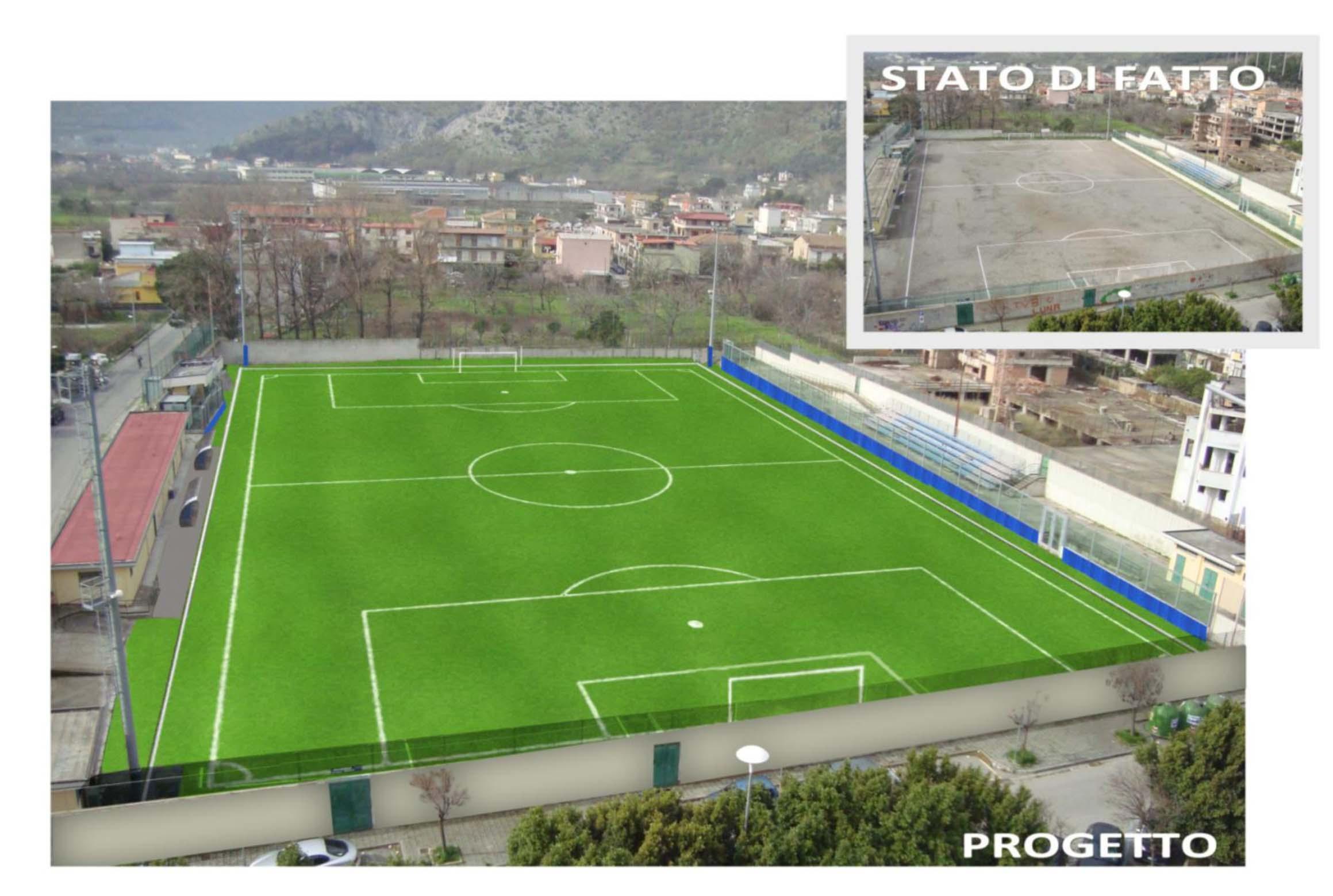 Castel san giorgio riqualificazione campo sportivo sessa for Campo sportivo seminterrato
