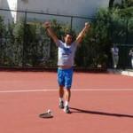 """Capri: Fabio Fognini fino in fondo all'Open di Rio de Janeiro, storica semifinale  vittoriosa contro Rafa Nadal, con al polso il """"talismano"""" Capri Watch."""